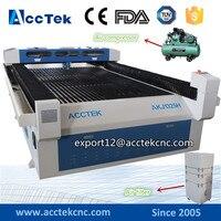 Dual Head Co2 Laser Cutting Machine AKJ1325H Paperboard Wood Acrylic Laser Cutting Machine Metal Cutting