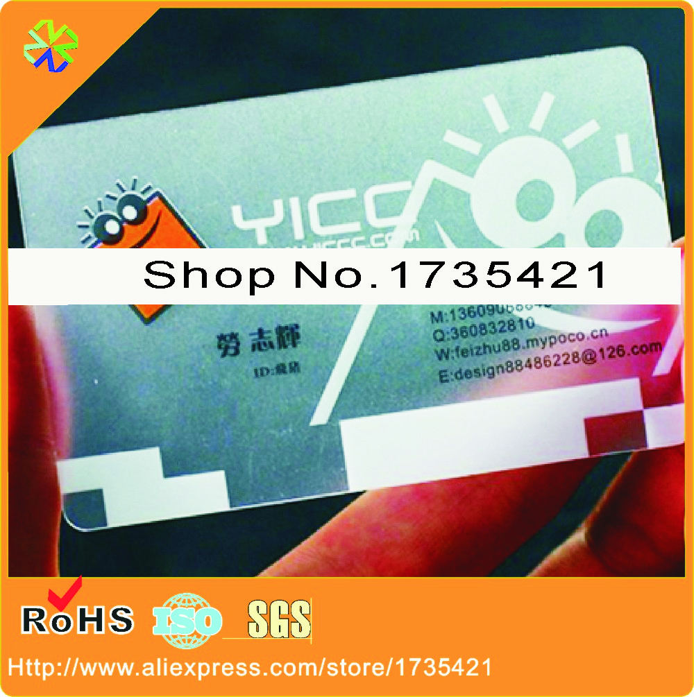 Online buy wholesale standard business card size from china 2016 new design iso standard size 1000pcslot pvc printing transparement business cardchina reheart Images