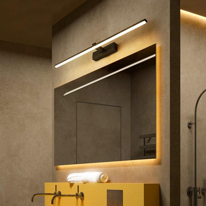 moderno led espelho luzes 0 4 m 1 2 m lampada de parede do banheiro quarto