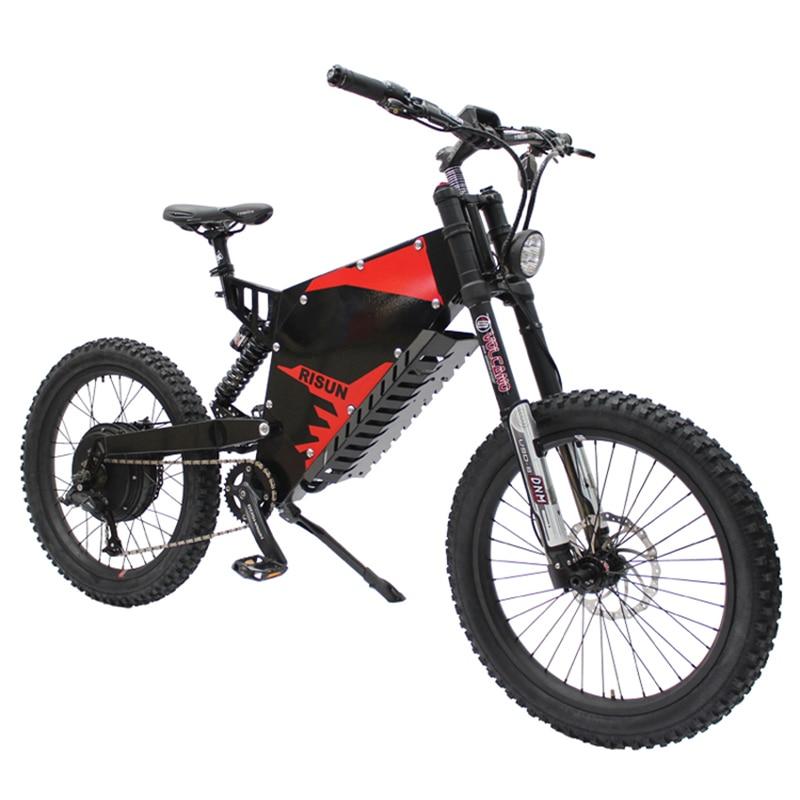 72V 3000W bicicleta de montaña eléctrica amortiguación delantera y - Ciclismo