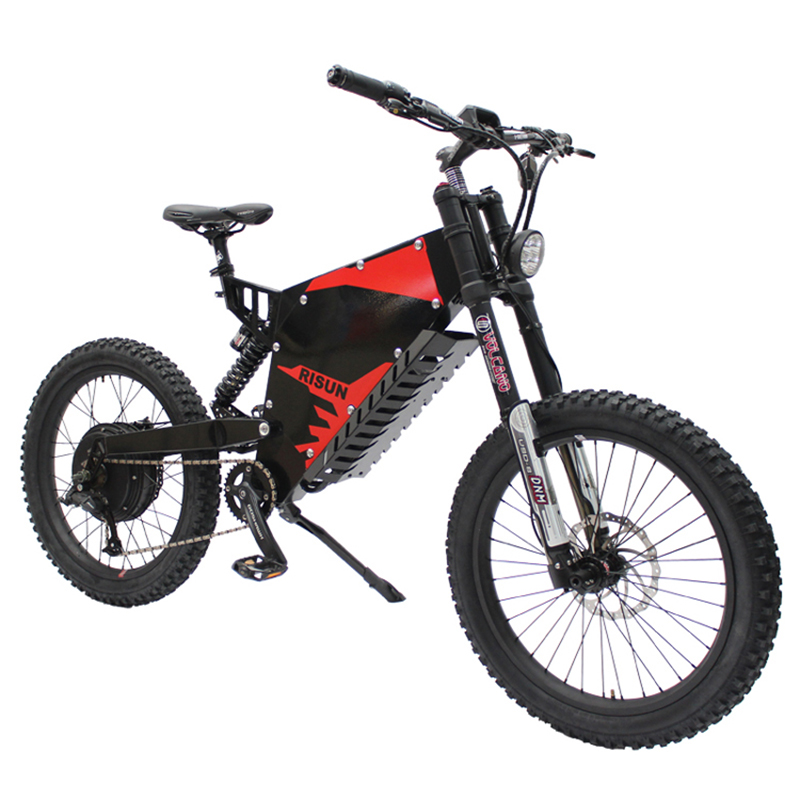 72V 5000W electric mountain font b bike b font front rear damping soft tail all terrain