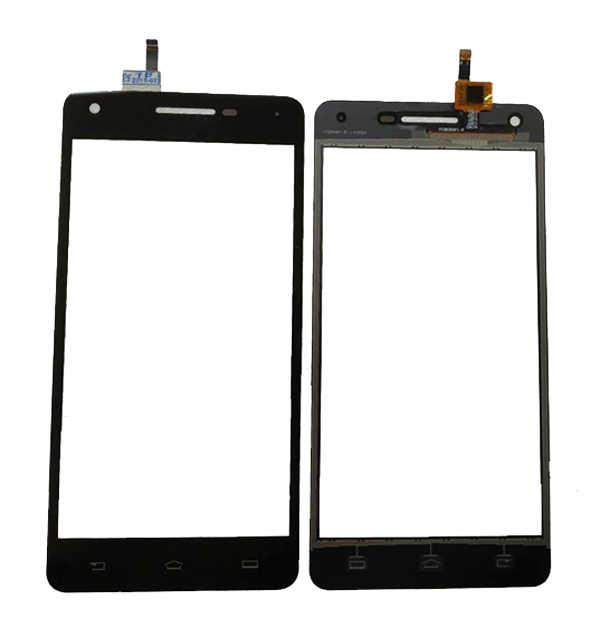 5.0 นิ้วสำหรับ Philips Xenium V377 Touch Screen Digitizer เซ็นเซอร์กระจกสีดำสีเทป