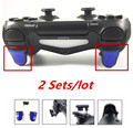 2 Sets R2 L2 Adjustable Trigger Extenders W/ Dust plug Dual Triggers Attachments for Playstation PS4 Dualshock 4 PSIV Controller