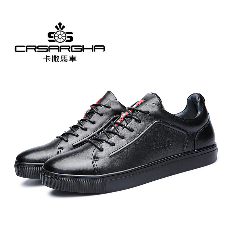 ФОТО Men's Spring Summer 2017 Black Plus Size Casual Office Work Travel Genuine Leather Shoes
