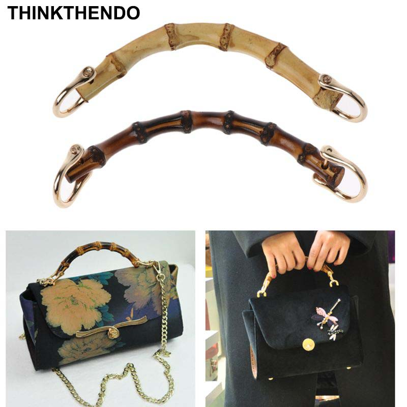 1-X-Bamboo-Bag Handle Bags-Accessories 2-Colors for DIY Good-Quality