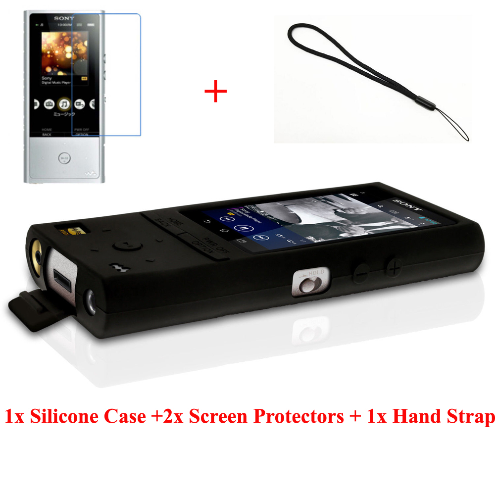 Screen Prot Silicone Gel Skin Case for Sony Walkman NW-A25 A27 Rubber Cover