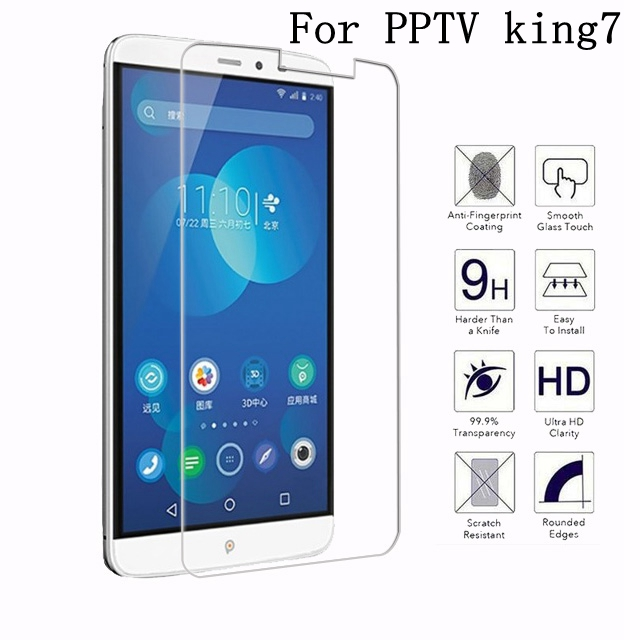 "9H Explosion-proof Tempered Glass For 6"" pptv king7 4g lte Case 0.26mm Cover High Quality Screen Protector Film"