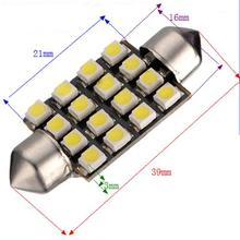 10X) 10 * Белый салона Купол C5W SMD 16 светодиодная гирлянда лампа 39 мм 12 В Новый