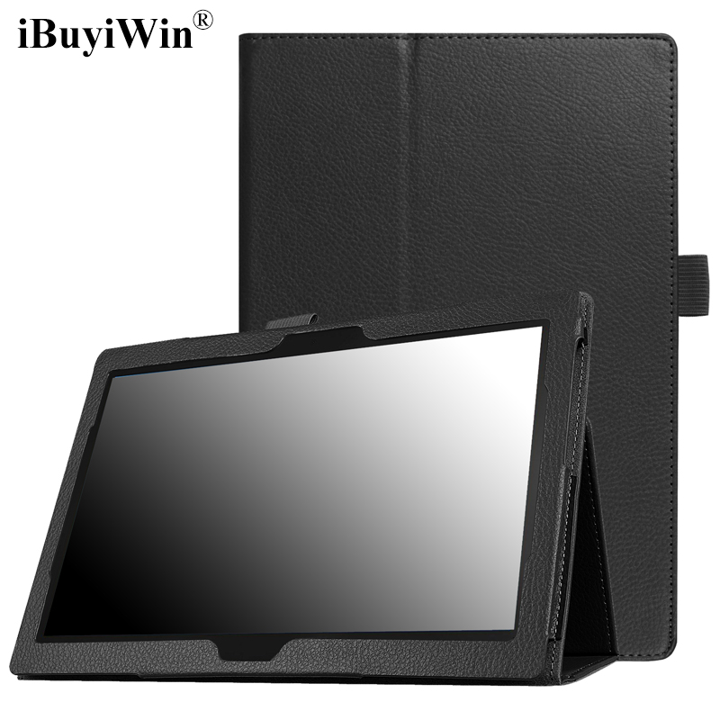 iBuyiWin Case for Lenovo Tab 4 10 TB-X304F TB-X304N Tab4 10.1 inch Slim Folding Folio Funda Stand Cover PU Leather Case+Film+Pen slim print case for acer iconia tab 10 a3 a40 one 10 b3 a30 10 1 inch tablet pu leather case folding stand cover screen film pen