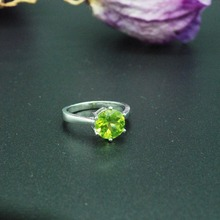 цена на 925 silver plated Platinum Gold peridot Ring  fashion gift for women jewelry