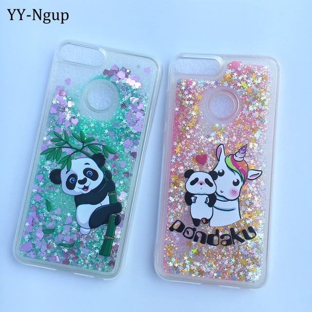 wholesale dealer b5e0c 9c6fd US $3.24 21% OFF|Honor 9 Lite Phone Case Cute Panda Unicorn Glitter Sequin  Liquid Quicksand Case on for Funda Huawei Honor 9 Lite Case Cover Girl-in  ...