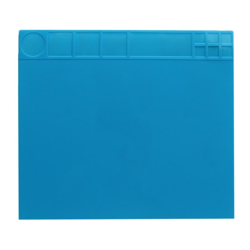 35x40x0.4cm Heat Resistant Silicone Heat Insulation BGA Soldering Repair Station Durable Pad Desk Mat Maintenance Platform