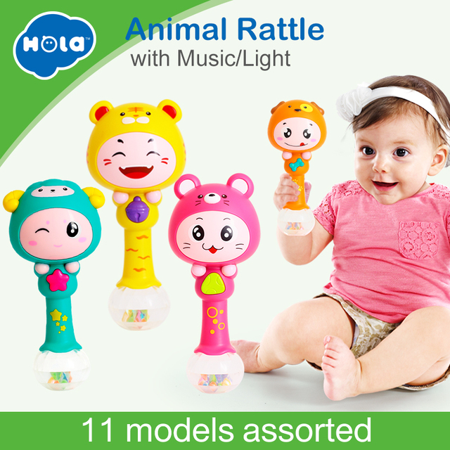 HUILE TOYS 3101 Baby Shaker Sand Hammer Toy Dynamic Rhythm Stick Baby Rattles Kids Musical Party Favor Musical Instrument Toys