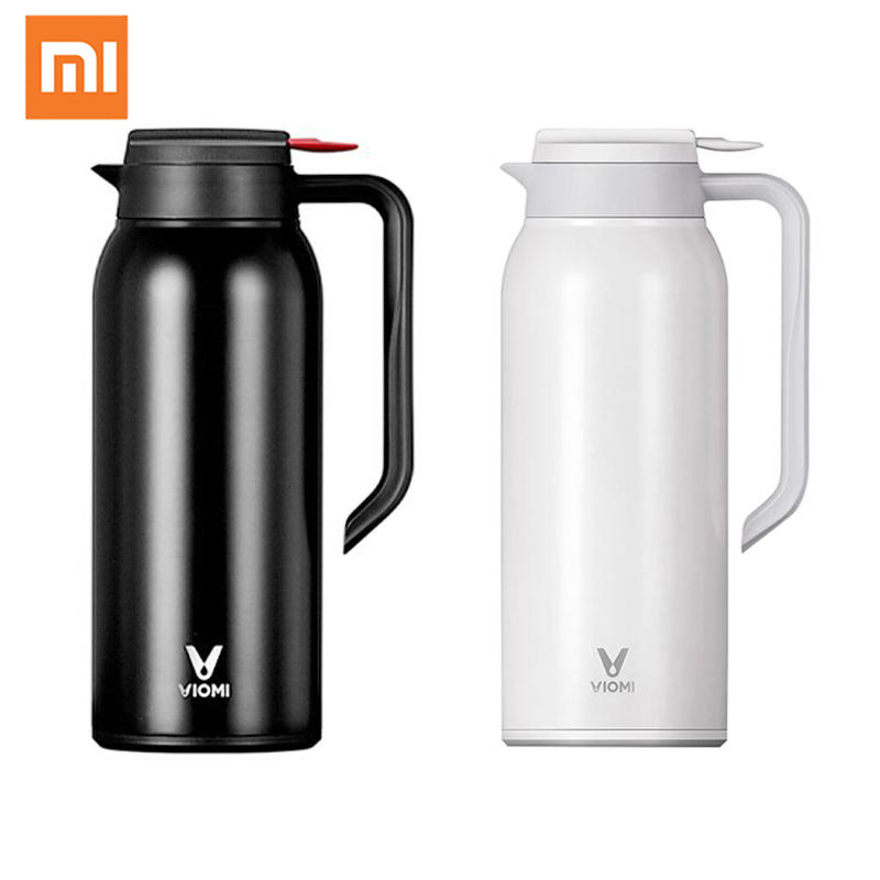 Xiaomi VIOMI 1.5L Kettle Thermo Cup Stainless Steel Vacuum Flask Thermos Bottle Cup Portable Insulation Water Kettle 24h 1 5l big capacity xiaomi viomi stainless steel bottle thermos water vacuum bottle cup flask pot 24h keep warm for home office