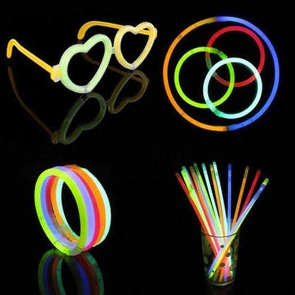 christmas decoration Glow Sticks Bracelets Necklaces Party Fluorescent Neon Colors Xmas Party Wedding Decal 50 Pcs YH-17