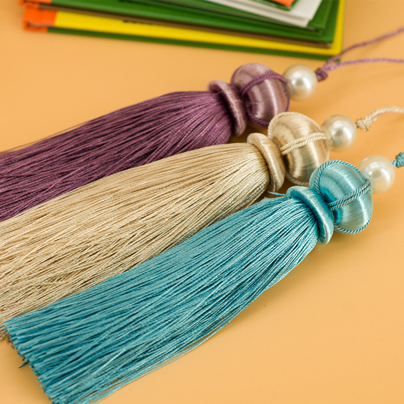 Wholesale 6pcs/lot 14cm Tassel With Hanging Rope Silk Sewing Tassels Trim Decorative Key Tassel For Curtains Home Decoration