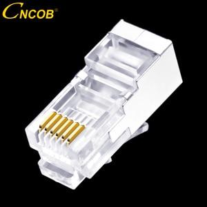 Image 1 - 50 шт., длинный корпус RJ11 RJ12 6P6C, телефонный соединитель FTP, 6 ядер, кристальная головка для телефона, модульная вилка, щит, медный корпус