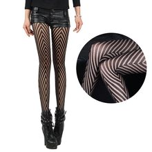 Fashion Sexy Lingerie Fantasy Mesh Fishnet Fence Net Jacquard Sheer Ultrathin Pantyhose Stockings Fish Net Tights(China)