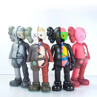 16 inch MAND Kaws Companion original fake black red and grey medicom toy factory prodct 100% real picture without original box