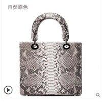 ledai Brand snake bag lady European and American fashion handbag bag lady 2019 new leather python small square bag