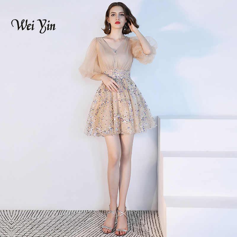 ef96a3758d627 weiyin Cocktail Dresses Elegant V Neck Short Homecoming Dress Formal Dress  Women Short Prom Gown WY813