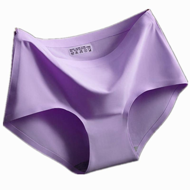 The Summer Ice Silk Cloth Underwear Women Sexy Ladies Girls One Piece Seamless Panties -9837