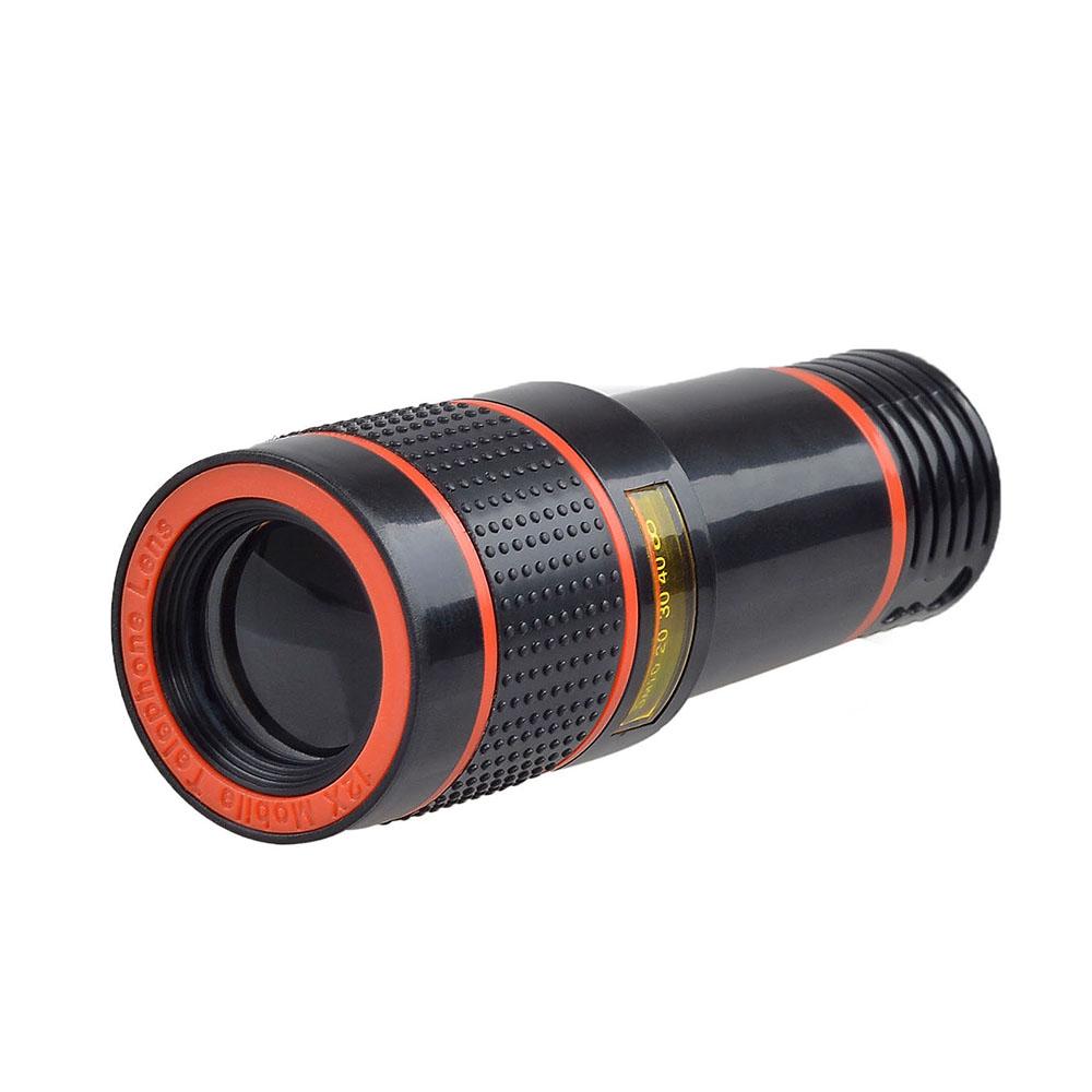 APEXEL 6IN1 phone camera lens 12X Telescope telephoto Zoom+fisheye wide angle macro Lens kit For iPhone7 6S plus Samsung s8 10