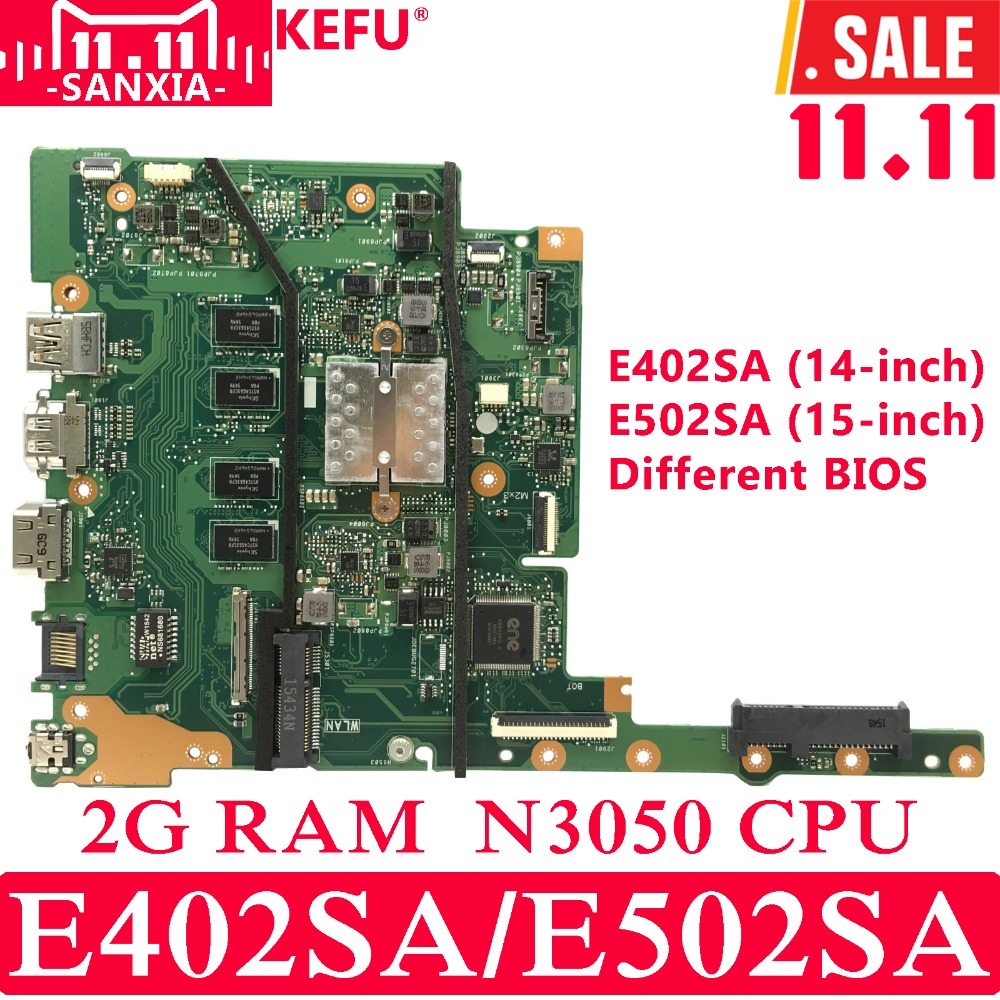 все цены на KEFU E402SA E502SA Laptop motherboard for ASUS E402SA E502SA E402S E502S E402 E502 Test original mianboard 2G RAM N3050 CPU онлайн