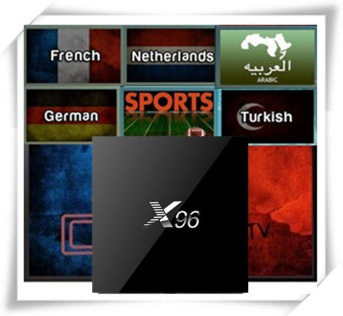 Frenchtv X96 2G16G Android TV BOX With French/Arabic/Netherland/Turkish/India/EX-YU/UK/CA/Africa/Germany/Swenish/Portugal IPTV