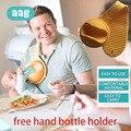 AAG удобный держатель для детской бутылочки поддержка Бесплатная ручная Кормление кормящих стабильный ремень поводок держать вертикально К...
