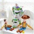 Игрушки историю плюшевых игрушек базз лайтер кукла большой размер 30 \ 55 см шериф вуди мягкая мягкая игрушка дети подарок