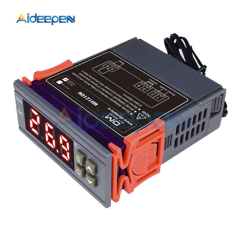 Mh1210w 72 v 250 v 10a termômetro digital termorregulador termostato controlador de temperatura-50 sensor 110 c ntc sensor para incubadora