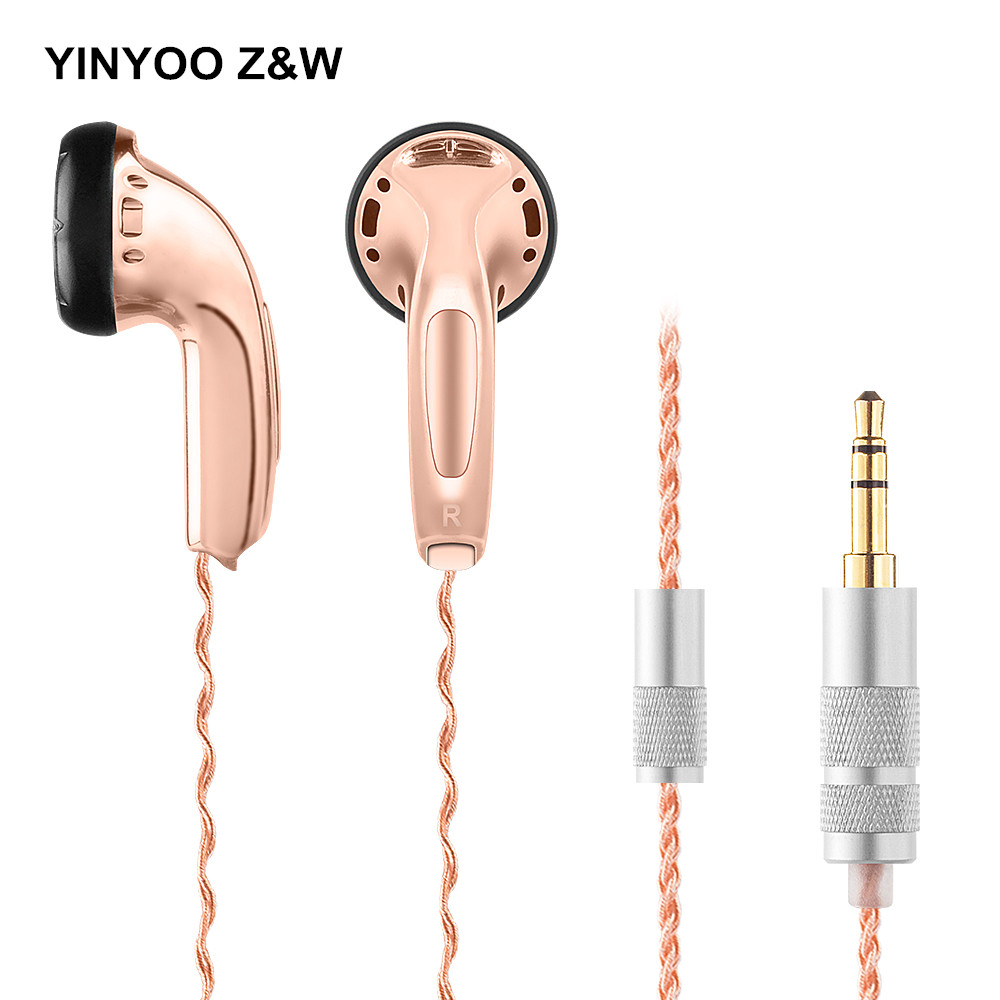 Original Yinyoo Z&W Earbud In-ear Earphones Flat Head Plug Earphone HiFi Bass Earbuds DJ Earbud Kill Monk MX500 PK2 Seahf