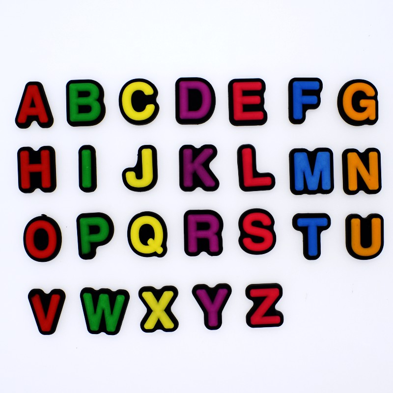 Kindergarten Teaching Tools 26PCS English Letters Ornaments For Fridge Magnets Stickers/Card Holders/Cable Winders/Bookmark