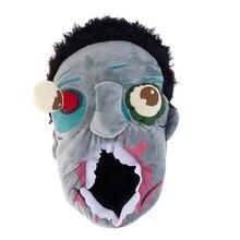 Мужская Зомби Тапочки Для Зимних Теплый Крытый Этаж Дома и Дома Женщины и Мужчины Walking Dead 3D Обувь Fit Хэллоуин косплей pantufa