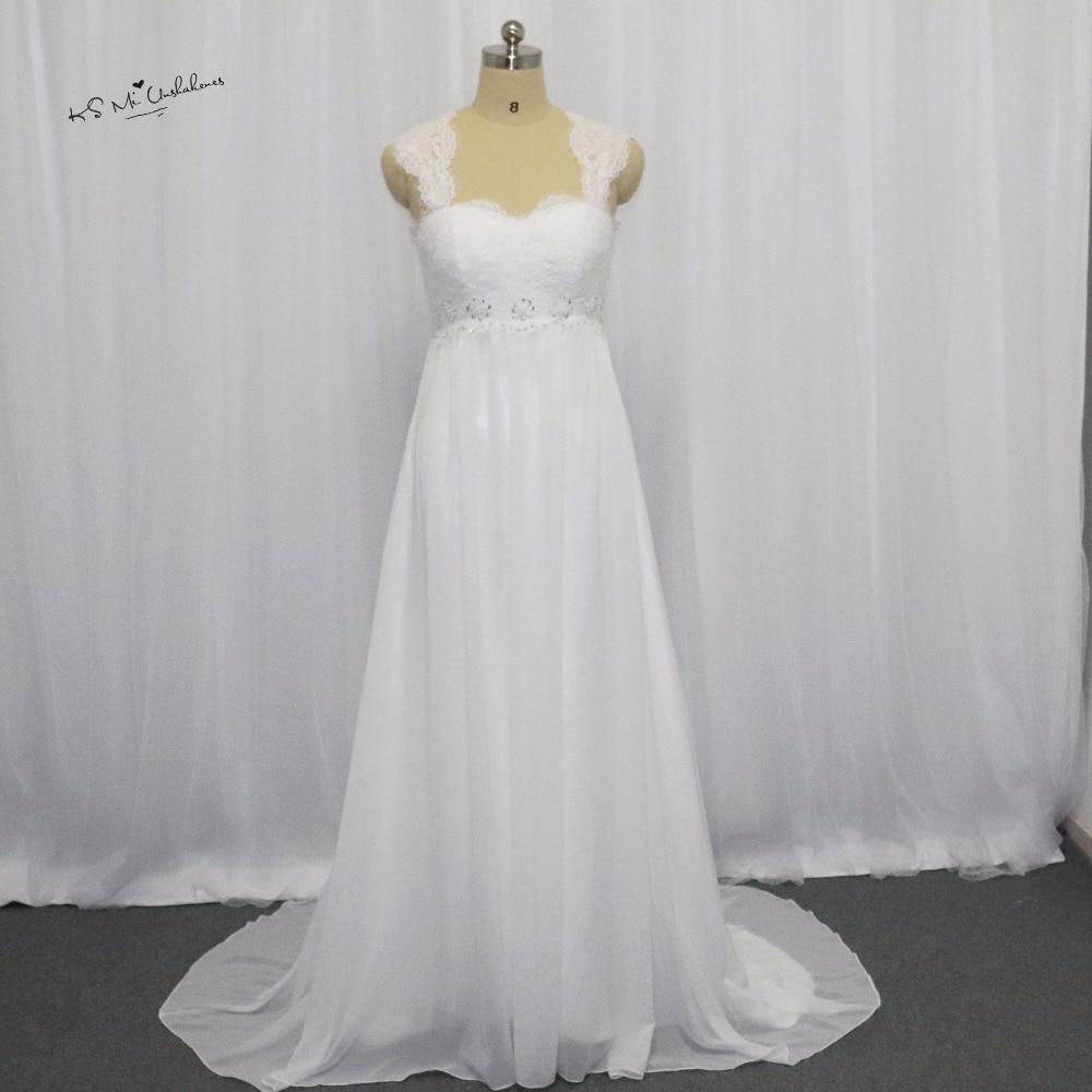 Summer Cheap Empire Maternity Wedding Dresses 2017 Lace