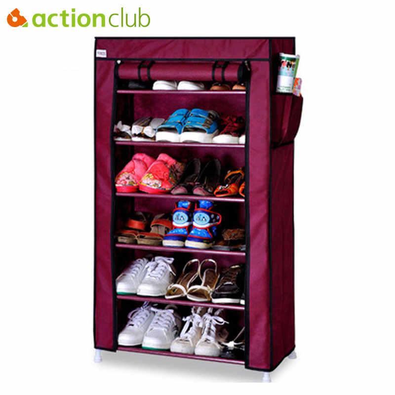 Actionclub سميكة غير المنسوجة متعددة الطبقات خزانة أحذية الغبار الإبداعية DIY الجمعية تخزين رفوف الأحذية أداة تنظيم الأحذية الرف