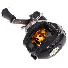 Good deal DMK 10BB 6.3:1 Left Hand Bait Casting Fishing Reel 9 Ball Bearings + One-way Clutch High Speed (Black+gray)