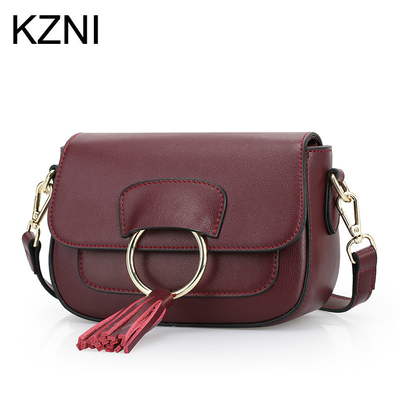 KZNI Genuine Leather Purse Crossbody Shoulder Women Bag Clutch Female Handbags Sac a Main Femme De Marque L121017 kzni genuine leather evening clutch bags designer handbags high quality purses and handbags sac a main femme de marque 1162 1168