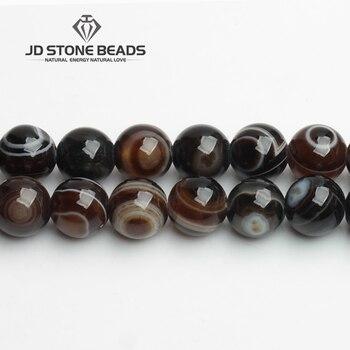 Agate dambre naturelle avec des yeux tibétain pierre naturelle Onyx perles 6 8 10 12mm bricolage fait à la main Bracelets accessoire pour la fabrication de bijoux