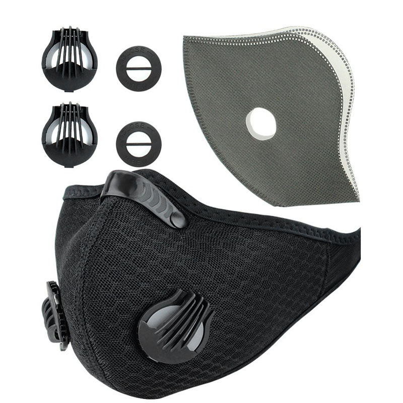 Winter Breathable Mesh Bicycle Mask Dust Smog Windproof Protective Nylon Mesh Bike MTB Cycling Half Face Mask Ciclismo Bicicleta