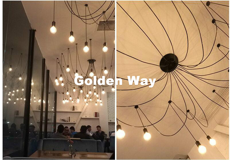 modern decora black color multi ceiling rose pendant light ceiling canopy vintage ceiling plate base lamp diy bulb not included in lamp bases from lights