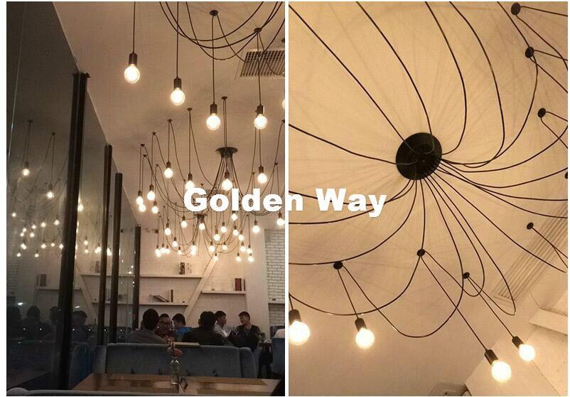 Modern Decora Black Color Multi Ceiling Rose Pendant Light Ceiling Canopy Vintage Ceiling Plate Base Lamp DIY Bulb Not Included