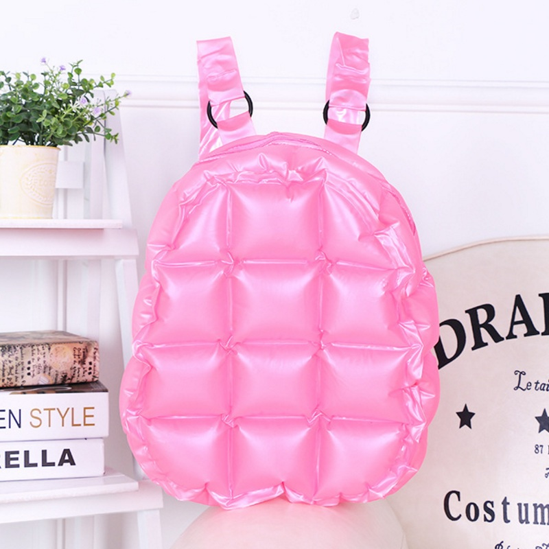 Fashion Inflated Women Jelly Backpack Summer PVC Waterproof Candy Beach Bag Girls Travel School Bag Diamond Lattice Shoulder Bag summer handbags transparent beach bag trend chains shoulder bag jelly candy color messener bag bright pvc composite bag set 1731