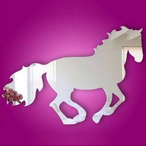 Скачущая Лошадь DIY зеркальные настенные часы, настенные наклейки, украшение дома, фоторамка, наклейка, любовь, жизнь, Черный кот, коридор, спа...