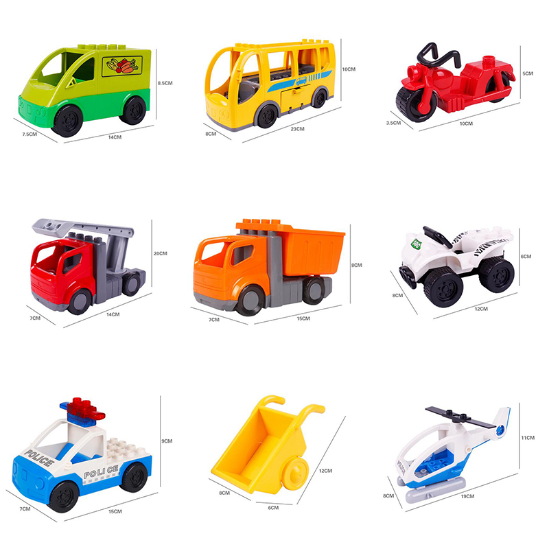 City Series Transport Building Blocks Police Car Truck Self-locking Bricks baby educational Toys for children compatible duploe 2017 enlighten city series garbage truck car building block sets bricks toys gift for children compatible with lepin