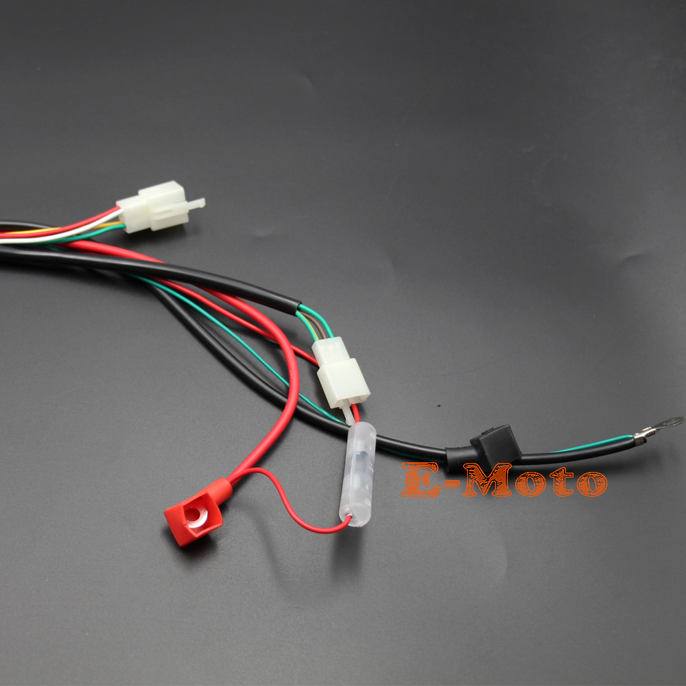 Engine Wiring Harness Wire Loom For Gy6 125cc 150cc Quad Bike Atv Buggy 6 Pin Round Edge Cdi E Moto In Motorbike Ingition From Automobiles Motorcycles On