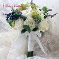 Новое Прибытие 2017 Свадебный Букет Сочные Растения Зеленый Искусственный Свадебные Букеты Женщины букет де mariage Бесплатная Доставка