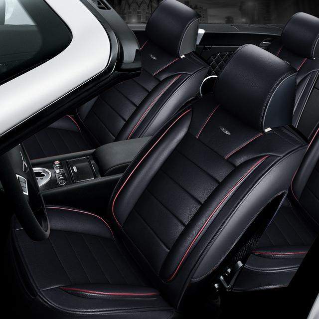 3D Estilo Sport Cubierta de Asiento de Coche Cojín Generales Coche cubre las Cubiertas Del Coche Para Ford Edge Mondeo Focus Fiesta Ecosport serie