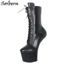 cd8d6674eb9594 Sorbern Sexy Heelless 20 cm Matt extremm bottes à talons hauts Lady Gaga bottes  chaussures courtes